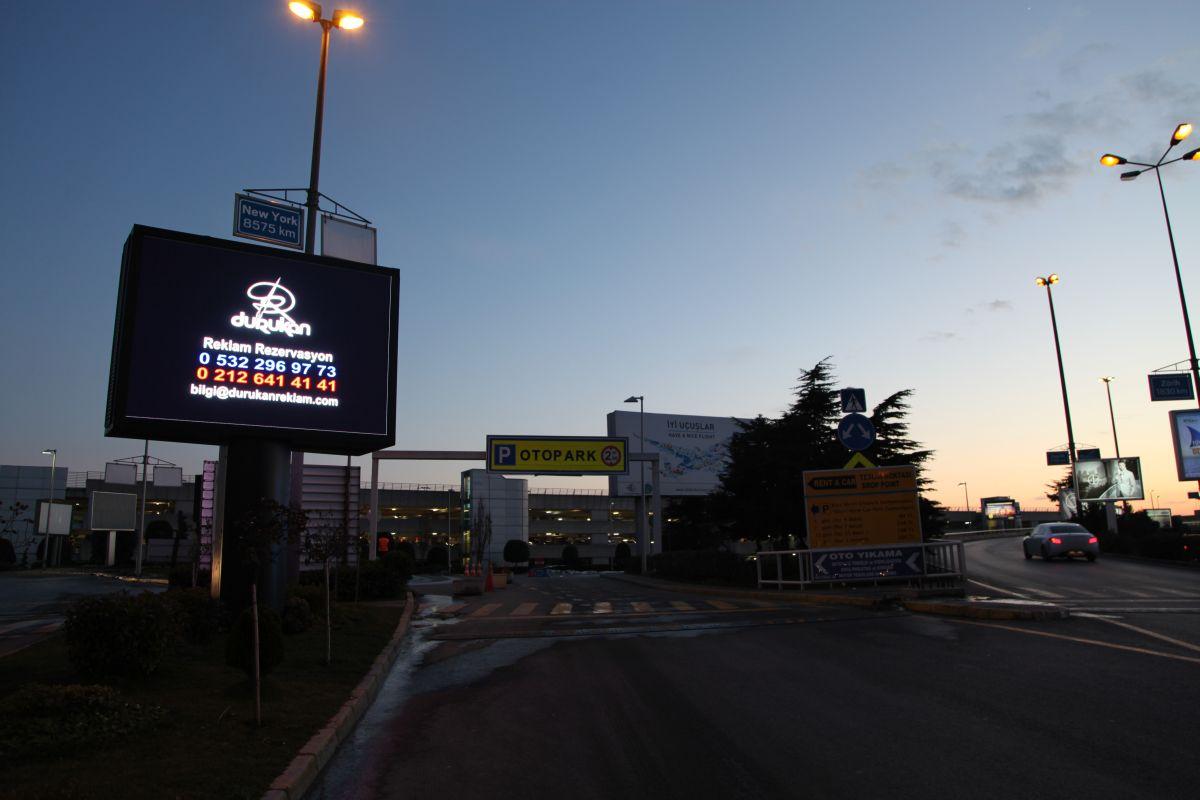 Durukan Reklam Ataturk Havalimani LED Pano L-01